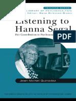 Listening to Hanna Segal