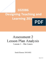 designing teaching and learning assessment 2