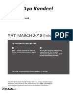 March 2018 (Usa) Sat Exam