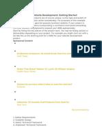 Sample WBS for Website Development