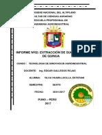 Informe n 2 Extracción de Sucedáneo de Quinua