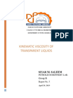 Petroleum Refinery Lab. Kinematic Viscosity