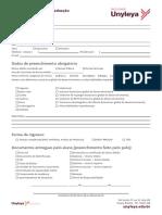 Ficha de Matrícula - Graduação