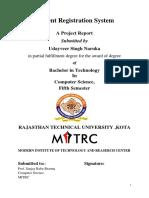 Report on Student Registration system