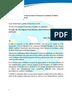 Bareta Response to PM,Cameroun
