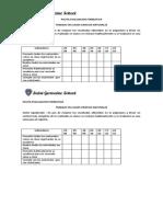 evaluacion de cuaderno