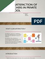 Satisfaction survey of teachers in private school job