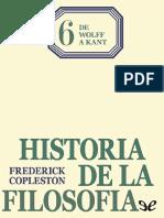 Copleston Frederick Historia de La Filosofia 06 de Wolff a Kant