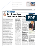 Tax Incentives for Private Security
