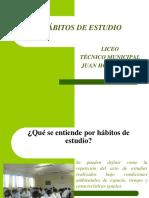 TALLER HÁBITOS DE ESTUDIO