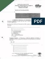 Lei Municipal 905 2013 - Cria a Controladoria Geral Da Prefeitura Municipal de Angicos