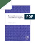Simon Episcopius Doutrina Do Pecado Original 221 Pags