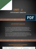 Unit - 2 Opp Analysis