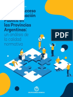 Indice de Acceso a La Informacion Publica en Las Provincias Argentinas- Un Analisis de La Calidad Normativa-web