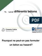 DENIS BETON Les Différents Bétons 2