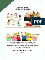 plan de aula ESTILOS DE VIDA SALUDABLE
