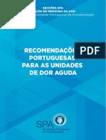 Recomendacoes Portuguesas Para as Unidades de Dor Aguda