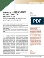 Analyse coût-bénéfice de la prévention