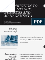 Accounting - I. Introduction to Accountancy, Business and Management