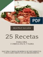 25 Recetas Para Una Comida Facil Julian