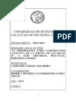 Seminario anual de Tesis 2019 (FFyL-Univesidad de Buenos Aires)