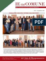 Notizie Dal Comune di Borgomanero del 27-09-2019