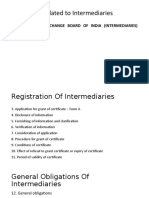 Regulation Related to Intermediaries