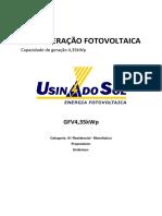 Memorial Descritivo Microgeração Fotovoltaica