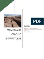 Memoria de Cálculo Estructural
