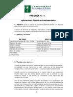 Practica de Laboratorio No. 4 Quimica