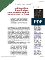 Os Xikrin Diante de Belo Monte