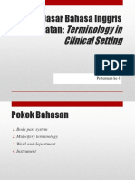 Minggu 1 (Terminology in Clinical Setting)