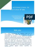 Norma Internacional de Auditoria Nº 260 -265
