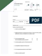 Cuestionario de Sanidad Interior