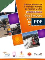 Gestión eficiente de la movilidad humana de mujeres y niñas venezolanas con enfoque diferencial de género y derecho