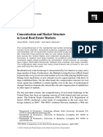 Beck & Scott & Yelowitz - Concentration and Market Structure in Local Real Estate Markets