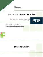 Aula 02a - Madeira - Introdução