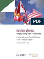 International Arbitration Seminar Panel 4