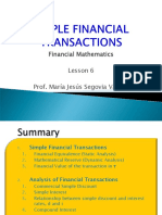 Lesson 6 Simple Financial Transactions