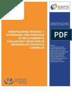 Orientaciones Tecnicas Reclutamiento y Seleccion SCHIPTO 2016