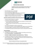 Convocatoria 2020-2021