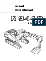 Escavadeira Leibherr r 944ekskavatora Liebherr r 944 b Litronic Operation and Maintenance Manual