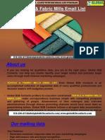Textile & Fabric Mills EmailList