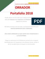 Borrador Portafolio NOTP 2018