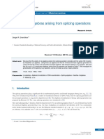 Commutator Algebras Arising From Splicing Operations