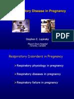 respiratory disorder in pregnancy