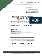 M215HJJ-L30 Ips Lcd Panel
