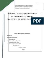 Normas Legales en Proyectos de Riego