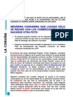 Reunión Carlos Negreira pequeño comercio. 15/11/2010
