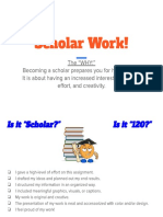 what is  scholar work